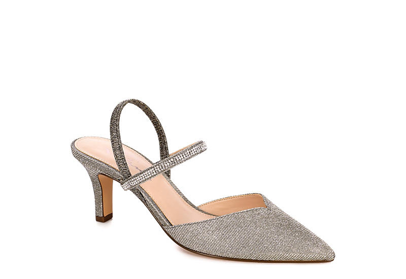 966daff6057 Pewter Touch Of Nina Womens Bianca Sling Back | Dress | Off Broadway ...