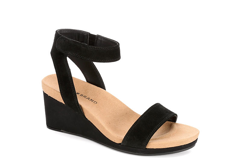 9adbedd863 Black Lucky Brand Womens Kanoa | Sandals | Off Broadway Shoes