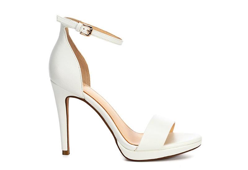 MICHAEL BY MICHAEL SHANNON Womens Angelica Platform Sandal - WHITE