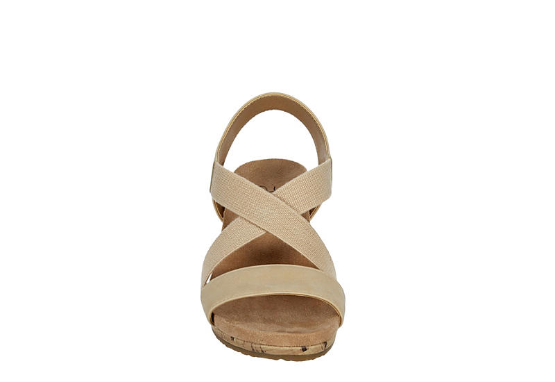 LIFESTRIDE Womens Mexico Wedge Sandal - BONE