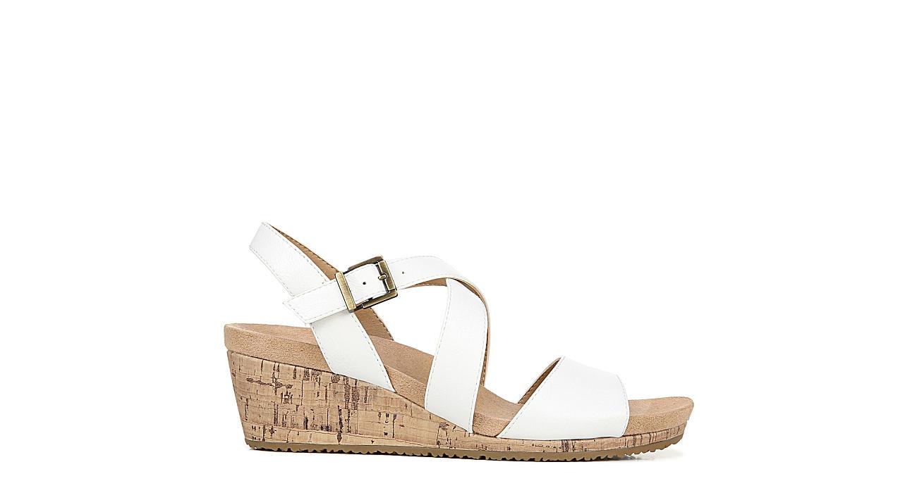LIFESTRIDE Womens Maple Wedge Sandal - WHITE