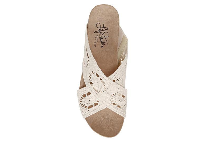 LIFESTRIDE Womens Donna Slip On Wedge Sandal - NATURAL
