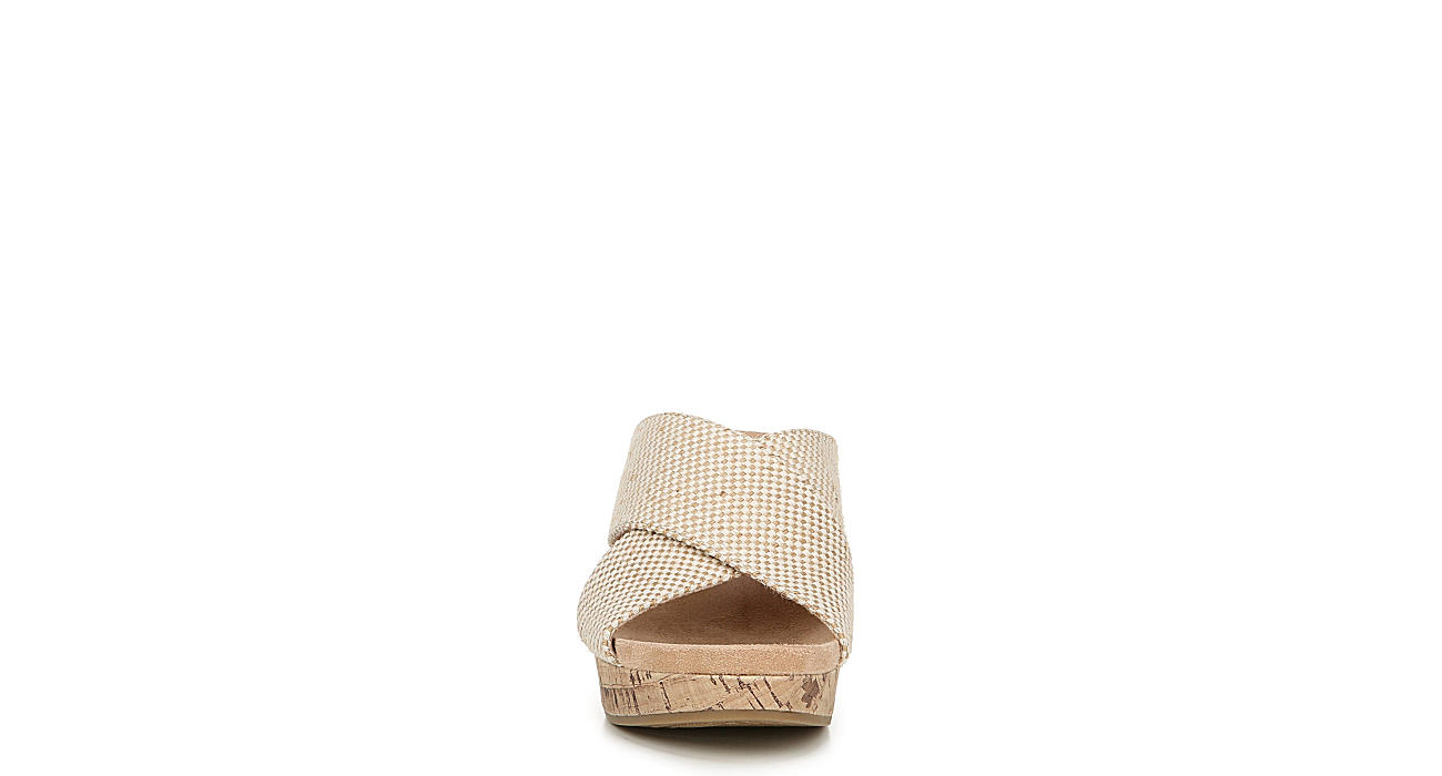 LIFESTRIDE Womens Donna Slip On Wedge Sandal - TAUPE