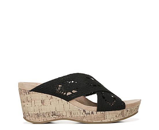 Womens Donna Slip On Wedge Sandal