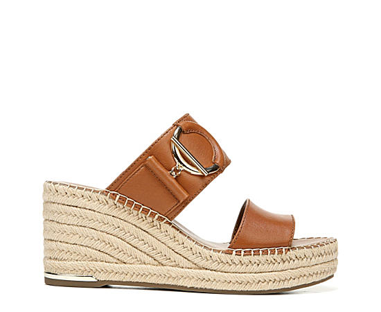 Womens Charlie Espadrille Slide Wedge Sandal