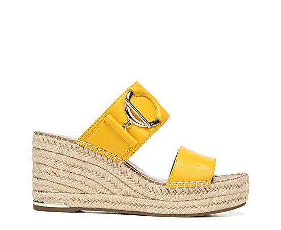 Womens Charlie Espadrille Wedge Slide Sandal