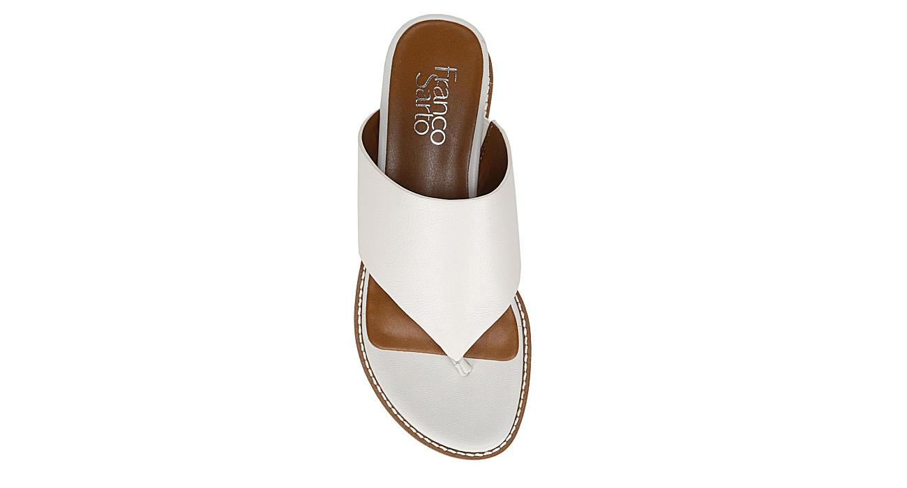 FRANCO SARTO Womens Cramer Espadrille Wedge Sandal - WHITE