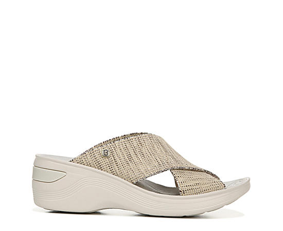 Womens Desire Wedge Slide Sandal