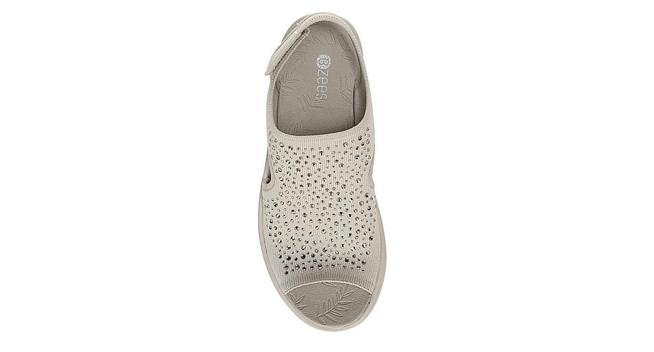 BZEES Womens Saucy Wedge Sandal - BEIGE
