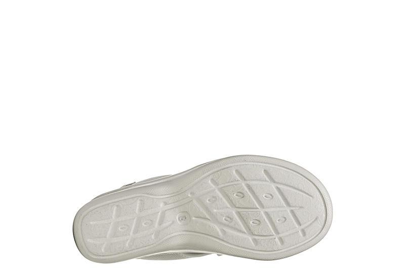 BZEES Womens Saucy Wedge Sandal - GREY