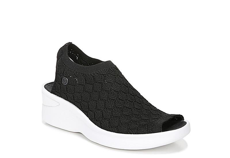 BZEES Womens Secret Wedge Sandal - BLACK