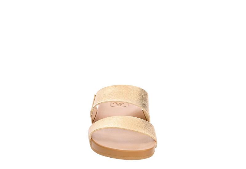 REEF Womens Cushion Bounce Vista Slide Sandal - GOLD