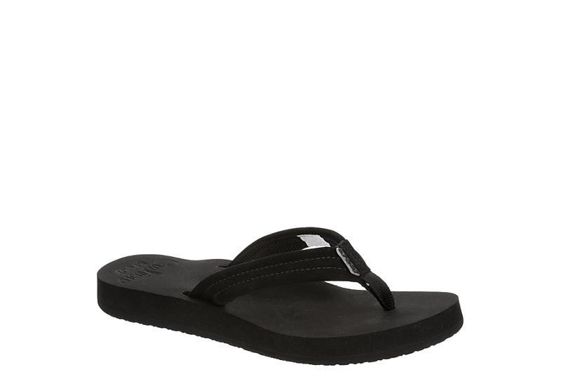 REEF Womens Cushion Breeze Flip Flop Sandal - BLACK