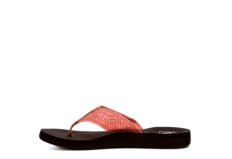 REEF Womens Spring Woven Flip Flop Sandal - CORAL