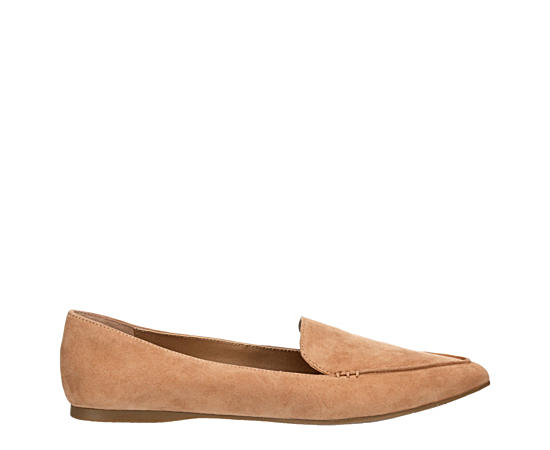 Womens Feather Loafer Flat