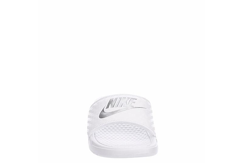 NIKE Womens Benassi Slide Sandal - WHITE