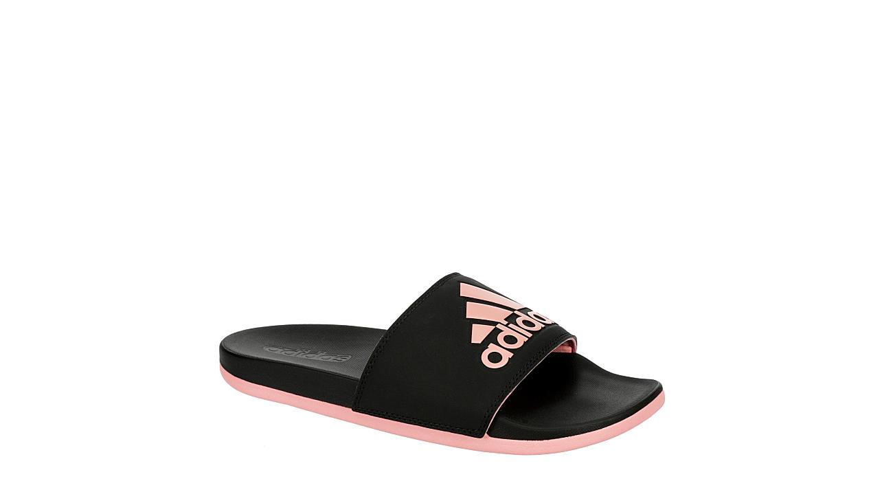 ADIDAS Womens Adilette Comfort Slide Sandal - BLACK