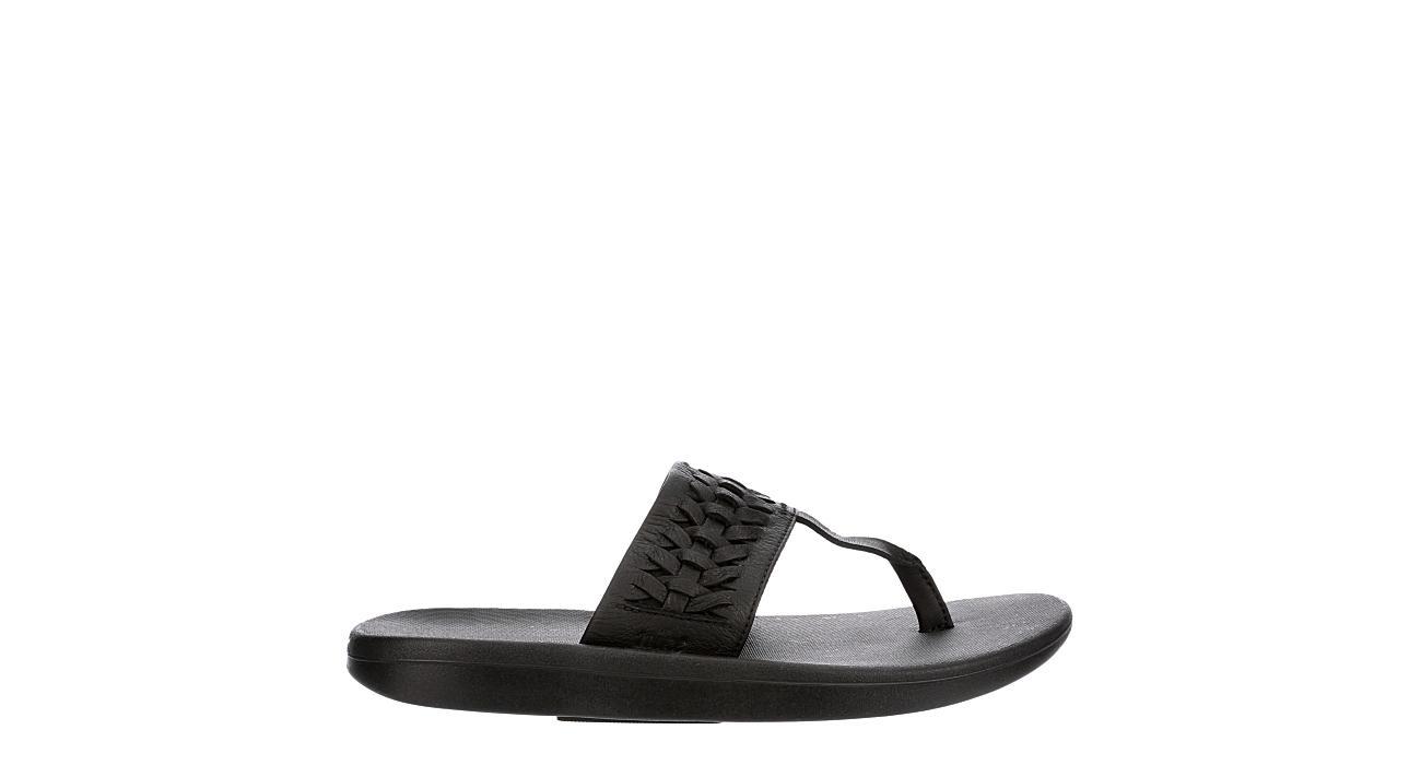 NIKE Womens Bella Kai Woven Thong Sandal - BLACK
