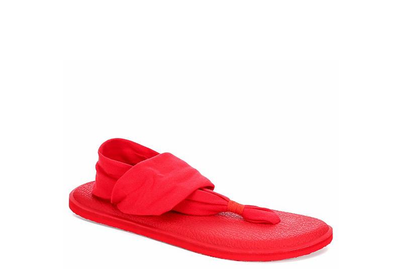 fc7f62b2615d27 Sanuk Womens Yoga Sling Spec - Red
