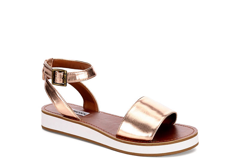 Sandals for Women On Sale, Golden Rose, Leather, 2017, 6 6.5 Steve Madden