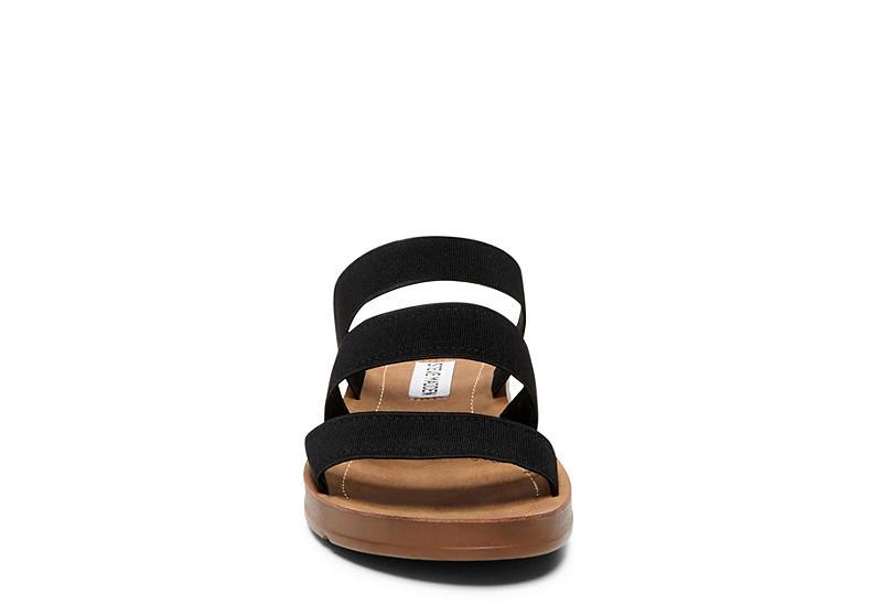 STEVE MADDEN Womens Pascale Slide Sandal - BLACK