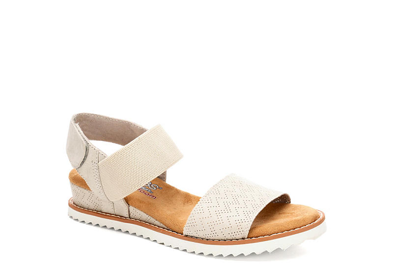 OFF WHITE SKECHERS BOBS Womens Desert Kiss
