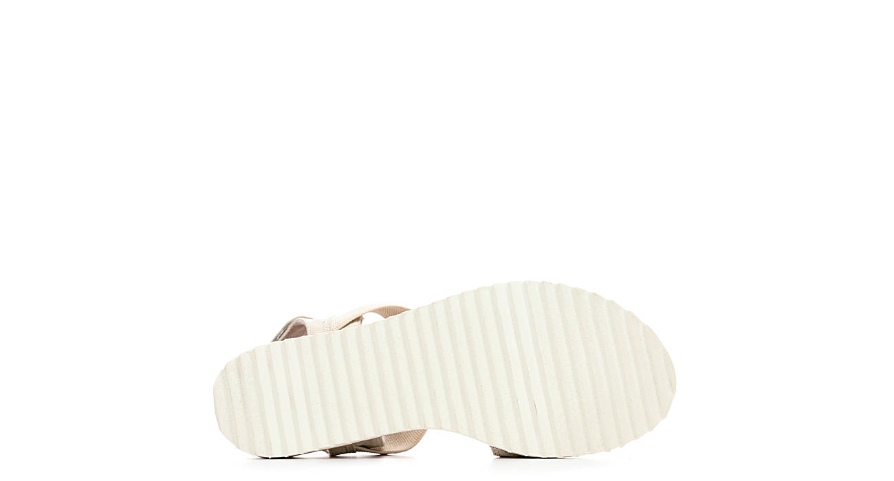 SKECHERS BOBS Womens Desert Kiss Wedge Sandal - OFF WHITE
