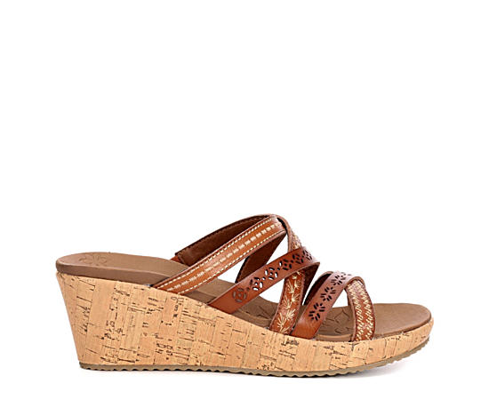Womens Beverlee - Tiger Posse Wedge Slide Sandal