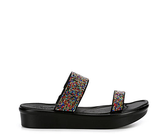 Womens Bumblers Bright Start Platform Slide Sandal