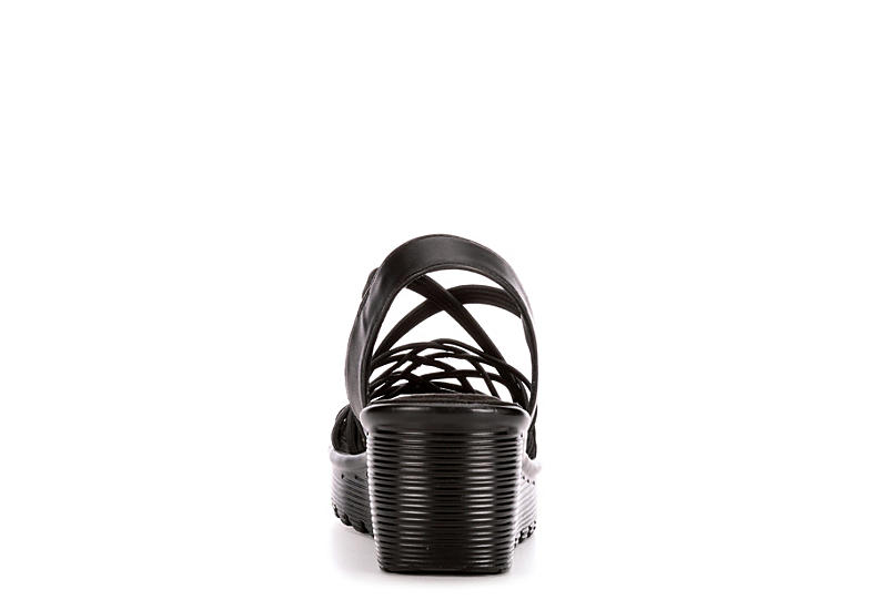 SKECHERS Womens Parallel Crossed Wires - BLACK