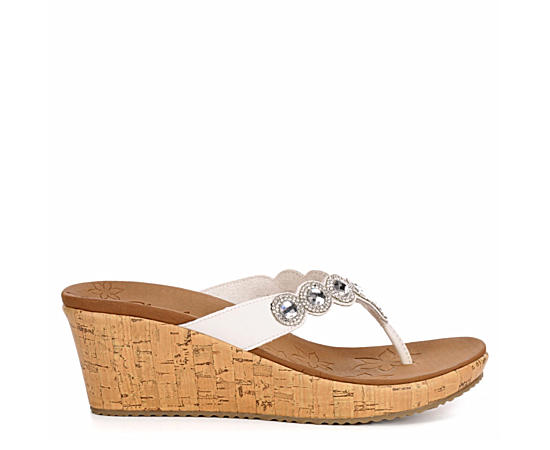 Womens Beverlee Bizzy Babe Wedge Flip Flop Sandal