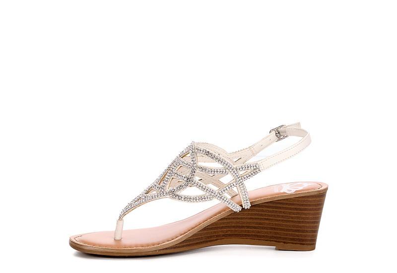 FERGALICIOUS Womens Charity Wedge Sandal - WHITE