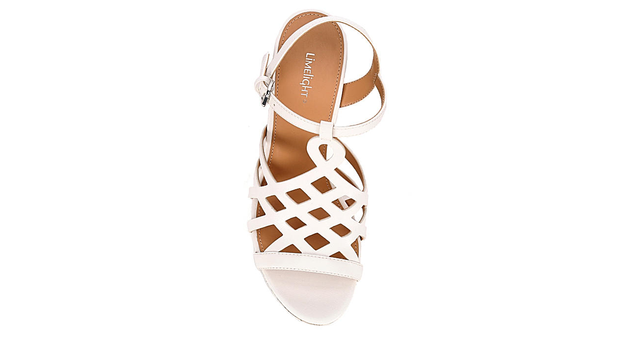 LIMELIGHT Womens Sonia Wedge Sandal - WHITE