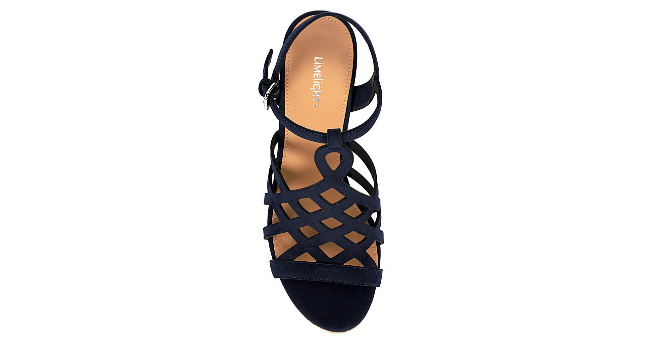 LIMELIGHT Womens Sonia Wedge Sandal - NAVY