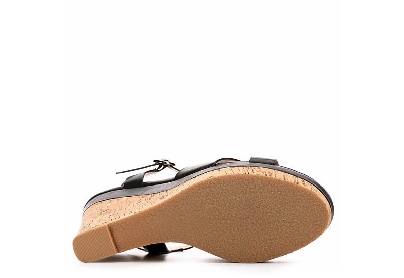 XAPPEAL Womens Kara Wedge Sandal - BLACK