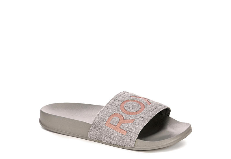 c46eb67701eb Roxy Womens Slippy Textile - Grey