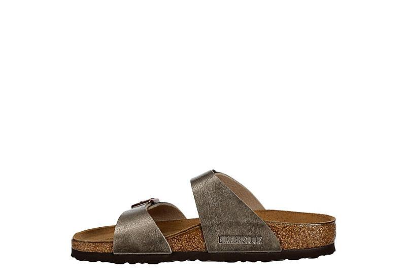 BIRKENSTOCK Womens Sydney Soft Footbed Sandal - TAUPE