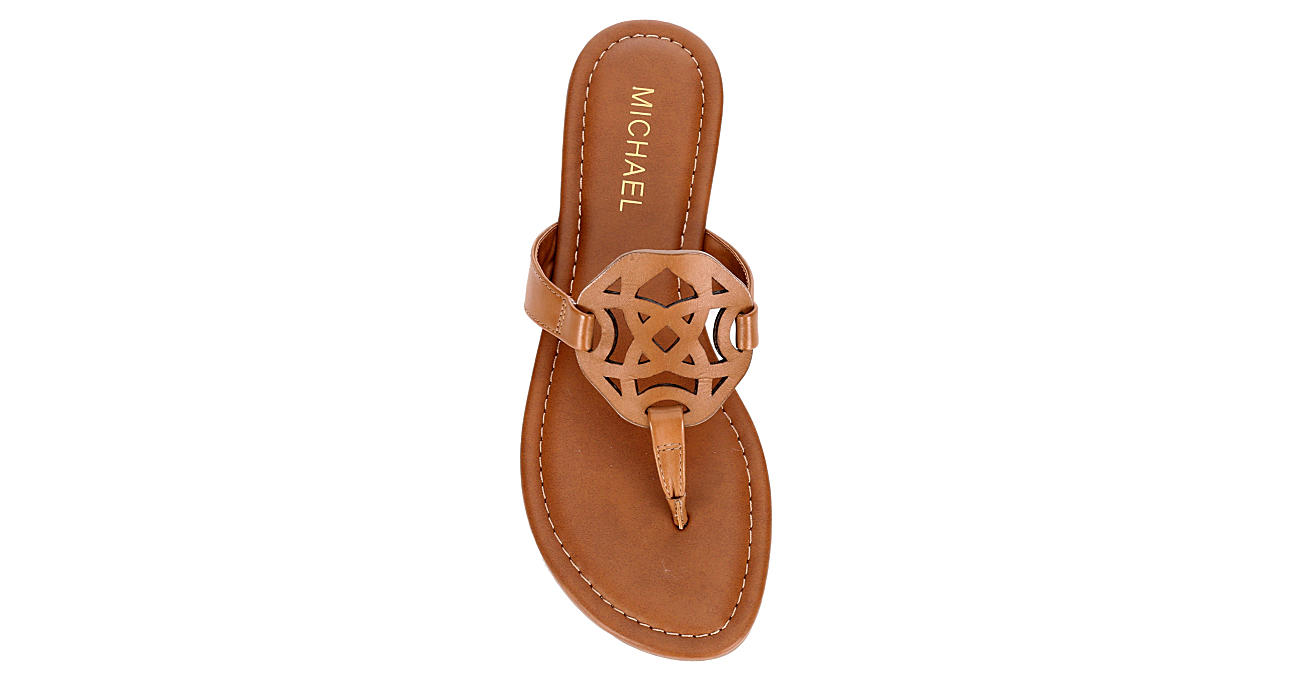 MICHAEL BY MICHAEL SHANNON Womens Ariana Thong Sandal - TAN