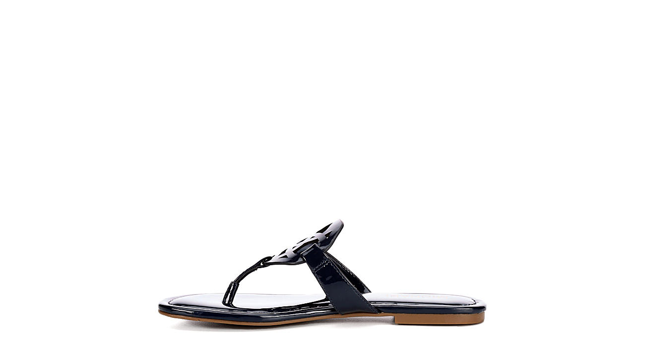 MICHAEL BY MICHAEL SHANNON Womens Ariana Thong Sandal - NAVY