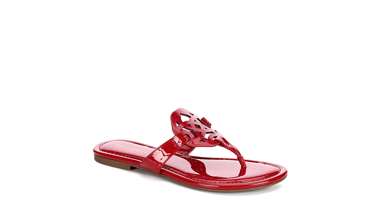 MICHAEL BY MICHAEL SHANNON Womens Ariana Thong Sandal - RED