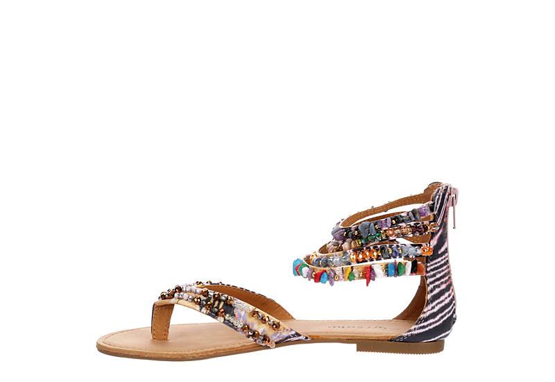 ZIGI SOHO Womens Talisa Flat Thong Sandal - BLACK