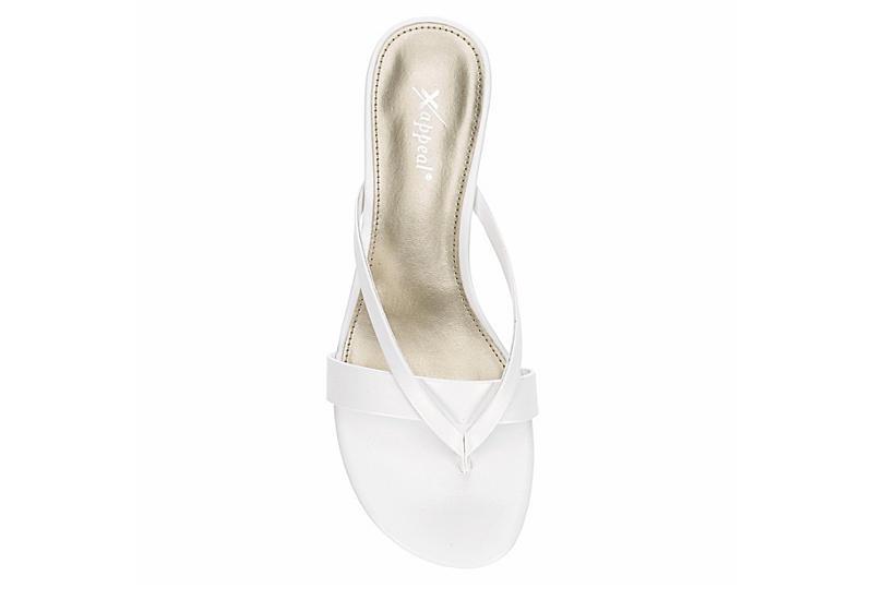 XAPPEAL Womens Avita Thong Sandal - WHITE