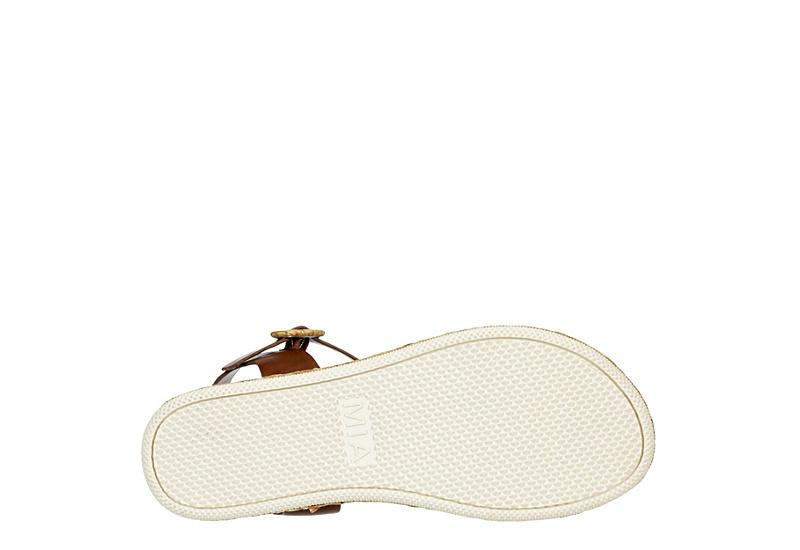 MIA Womens Deanne Platform Sandal - COGNAC