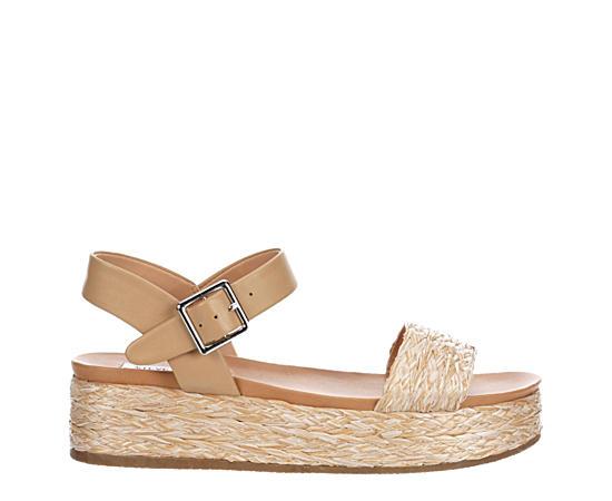 Womens Accord Raffia Platform Sandal