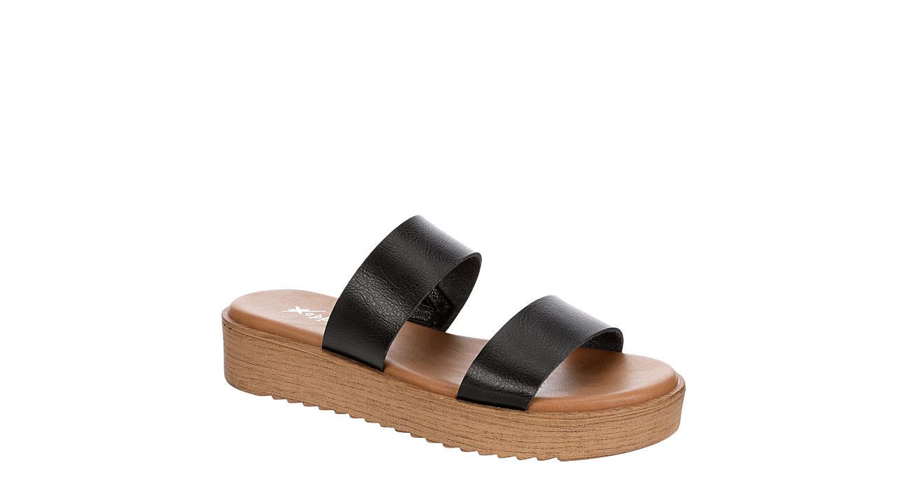XAPPEAL Womens Dash Platform Slide Sandal - BLACK