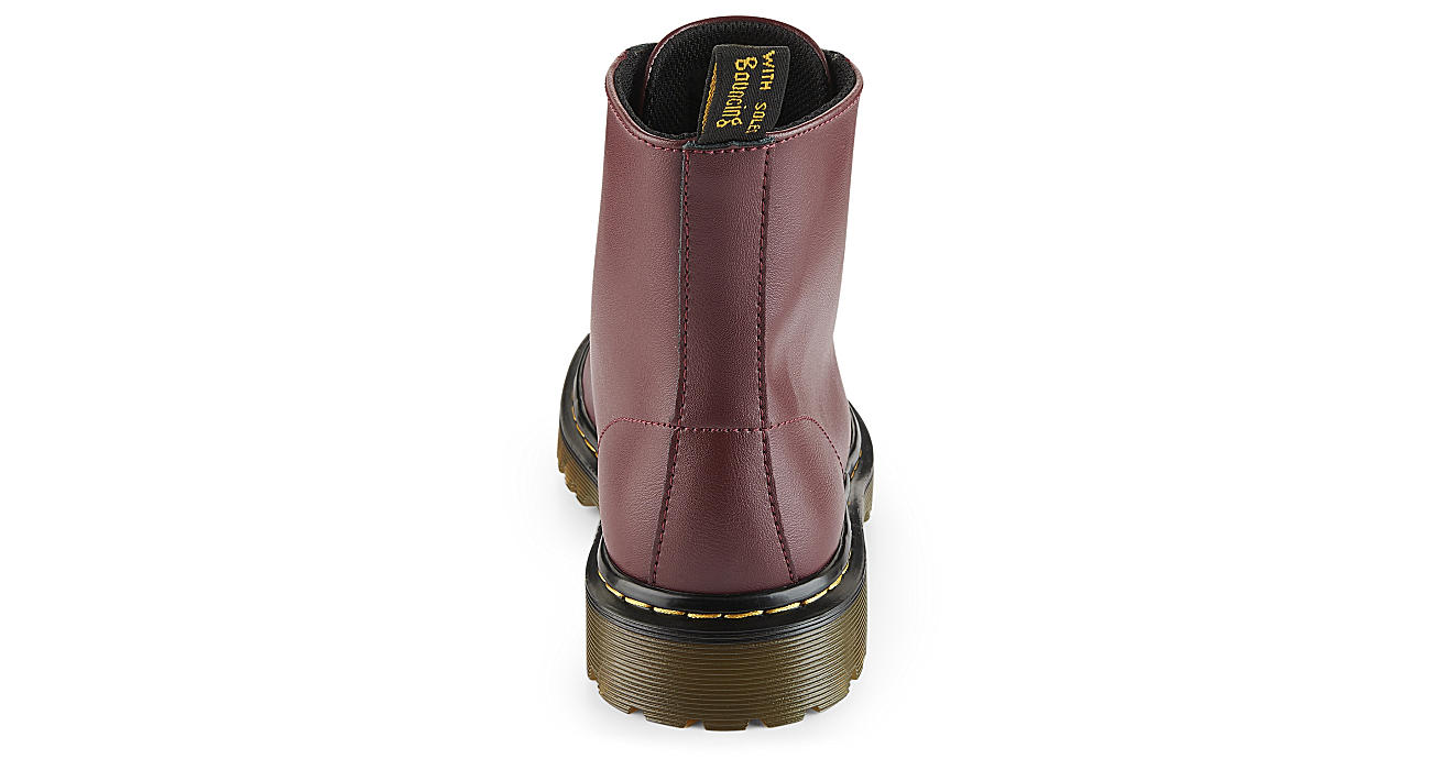 DR.MARTENS Womens Luana Combat Boot - RED