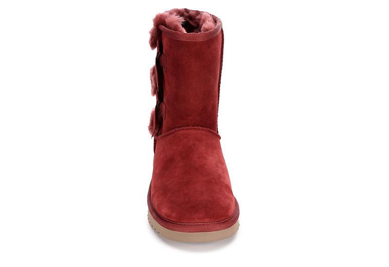 KOOLABURRA by UGG Womens Victoria Short Fur Boot - WINE