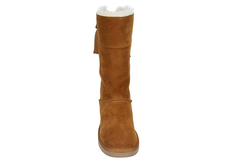 KOOLABURRA by UGG Womens Andrah Tall Fur Boot - CHESTNUT