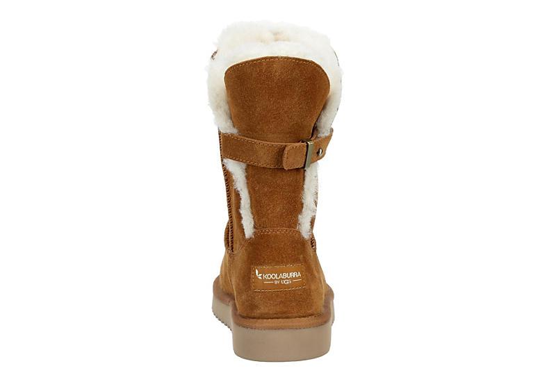 KOOLABURRA by UGG Womens Remley Short Fur Boot - CHESTNUT