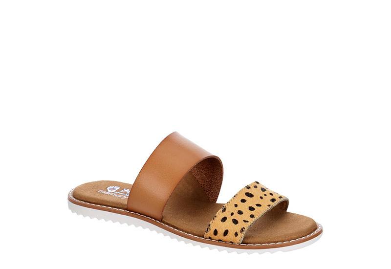 SKECHERS BOBS Womens Blazing Star Slide Sandal - TAN